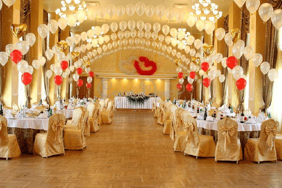 Как оформить свадебный зал — современные элементы декора